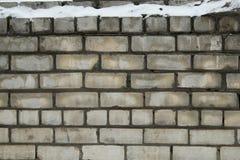 Alte Backsteinmauer als Hintergrund Stockbilder