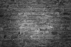 Alte Backsteinmauer als Hintergrund, Beschaffenheit oder Muster Dunkelrote und orange Backsteinmauer Plakat oder Abdeckung Stockfotografie