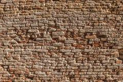 Alte Backsteinmauer als Hintergrund foto Stockbild