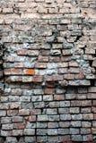 Alte Backsteinmauer als Hintergrundnahaufnahme Stockbilder