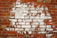 Alte Backsteinmauer als Rahmen für Textbild Stockbild