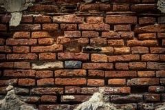 Alte Backsteinmauer, alte Beschaffenheit des roten Steins blockiert Nahaufnahme Stockfotografie