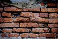 Alte Backsteinmauer, alte Beschaffenheit des roten Steins blockiert Nahaufnahme Lizenzfreie Stockbilder