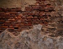 Alte Backsteinmauer in Bangkok Lizenzfreie Stockbilder