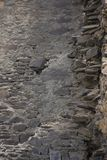 Alte Backsteinmauer: Beschaffenheit der Weinlesemaurerarbeit Lizenzfreies Stockbild