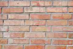 Alte Backsteinmauer, alte Beschaffenheit des roten Steins blockiert Nahaufnahme Lizenzfreies Stockfoto