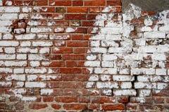 Alte Backsteinmauer, alte Beschaffenheit des roten Steins blockiert Nahaufnahme Lizenzfreies Stockbild