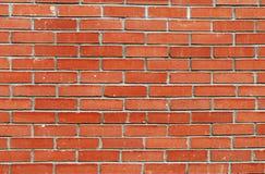 Alte Backsteinmauer, alte Beschaffenheit des roten Steins blockiert Nahaufnahme, Dachbodenst. Lizenzfreie Stockfotografie