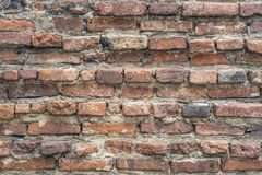Alte Backsteinmauer , alte Beschaffenheit von roten Steinblöcken Stockfotos