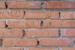 Alte Backsteinmauer , alte Beschaffenheit von roten Steinblöcken Lizenzfreie Stockfotos