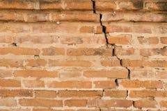 Alte Backsteinmauer , alte Beschaffenheit von roten Steinblöcken Stockbild