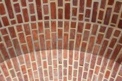 Alte Backsteinmauer, alte Beschaffenheit von roten Steinblöcken schließen oben Lizenzfreie Stockfotos