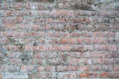 Alte Backsteinmauer der Beschaffenheit bedeckte Zement Stockfoto