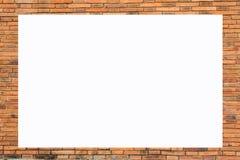 Alte Backsteinmauer der Bilderrahmen-Form Stockfotografie