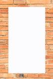 Alte Backsteinmauer der Bilderrahmen-Form Stockfoto