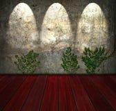 Alte Backsteinmauer der Weinlese Lizenzfreies Stockfoto