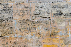 Alte Backsteinmauer des Hintergrundes Stockfoto