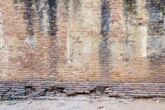 Alte Backsteinmauer des Tempels in Bagan, Myanmar Lizenzfreie Stockfotos
