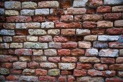 Alte Backsteinmauer Die Maurerarbeit der Ziegelsteinnahaufnahme Stockbild