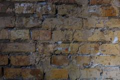 Alte Backsteinmauer in einem Hintergrund Lizenzfreies Stockbild