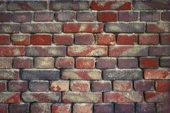 Alte Backsteinmauer für Beschaffenheit oder Hintergrund Stockfotografie