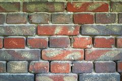 Alte Backsteinmauer für Beschaffenheit oder Hintergrund Lizenzfreies Stockbild