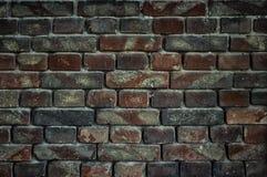 Alte Backsteinmauer für Beschaffenheit oder Hintergrund, dunkler Effekt Lizenzfreie Stockfotos