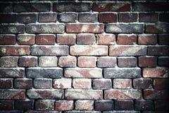 Alte Backsteinmauer für Beschaffenheit oder Hintergrund, Vignetteneffekt Stockfotos