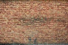 Alte Backsteinmauer für des Hintergrundes, Brauner und Roter Farbe der Beschaffenheit oder Stockfotografie