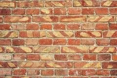Alte Backsteinmauer für des Hintergrundes, Brauner und Roter Farbe der Beschaffenheit oder Lizenzfreie Stockbilder