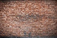 Alte Backsteinmauer für des Hintergrundes, Brauner und Roter Farbe der Beschaffenheit oder Lizenzfreie Stockfotos