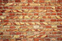 Alte Backsteinmauer für des Hintergrundes, Brauner und Roter Farbe der Beschaffenheit oder Stockfotos