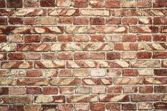 Alte Backsteinmauer für des Hintergrundes, Brauner und Roter Farbe der Beschaffenheit oder Lizenzfreies Stockfoto