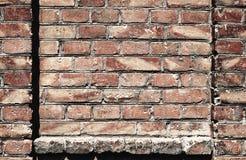 Alte Backsteinmauer für des Hintergrundes, Roter und Brauner Farbe der Beschaffenheit oder, Bauelemente als Ziegelstein füllte Ra Stockfoto