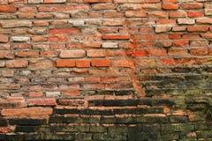 Alte Backsteinmauer für Muster und Hintergrund Stockfotografie