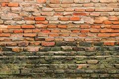 Alte Backsteinmauer für Muster und Hintergrund Stockbilder