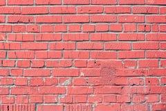 Alte Backsteinmauer gemalt mit rosa Farbe als Hintergrund oder Beschaffenheit Lizenzfreies Stockfoto