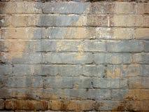 Alte Backsteinmauer gemalter Graffitibeschaffenheitshintergrund Lizenzfreie Stockfotografie