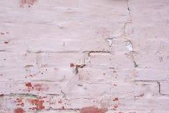 Alte Backsteinmauer gemalter Hintergrund Lizenzfreies Stockbild