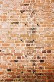 Alte Backsteinmauer, Hintergrund und Beschaffenheit Stockfotos