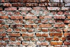 Alte Backsteinmauer, Hintergrund und Beschaffenheit Lizenzfreies Stockbild