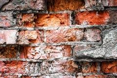 Alte Backsteinmauer, Hintergrund und Beschaffenheit Stockbild