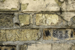 Alte Backsteinmauer Mit dem Gips Lizenzfreies Stockfoto