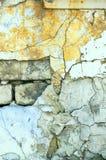 Alte Backsteinmauer Mit dem Gips Stockfotos