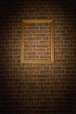 Alte Backsteinmauer mit Feld Lizenzfreie Stockfotografie