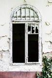 Alte Backsteinmauer mit Fenster Lizenzfreies Stockfoto