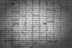 Alte Backsteinmauer, mit Flecken Beschaffenheit der Maurerarbeit Leerer Hintergrund von grauen Ziegelsteinen mit Vignette Lizenzfreie Stockbilder