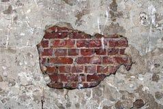 Alte Backsteinmauer mit Gips auf Alcatraz-Insel Lizenzfreie Stockfotografie