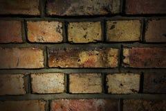 alte Backsteinmauer mit konkreter Beschaffenheit Lizenzfreies Stockbild