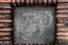 Alte Backsteinmauer mit Raum für Text Stockfotografie
